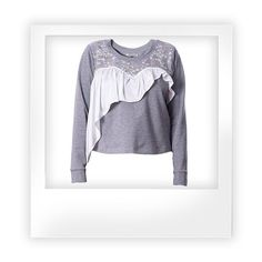 GRAY DAISY sweatshirt.