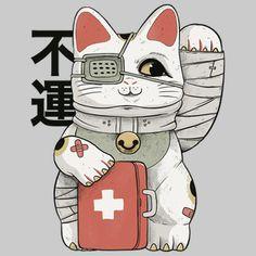 Fire Demon, Sushi Cat, Alien Concept Art, Cat Mask, Japanese Dragon, Maneki Neko, Shinigami, Godzilla, Urban Fashion