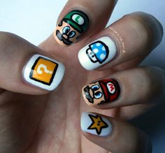 One Nail To Rule Them All: Mario nails!