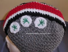 OSU Buckeye Earflap Hat Adult Large Size  Crochet Hat by HarperNCo, $20.00