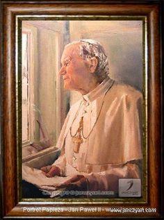#Jan_Paweł_II #Papież #Ojciec_Święty #Papa #Pope #John_Paul_II #oil_painting on #canvas - size: 70 cm. x 100 cm. - #Painting - #Karolina_Janczy © www.janczyart.com