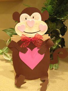 Monkey Valentine Holders