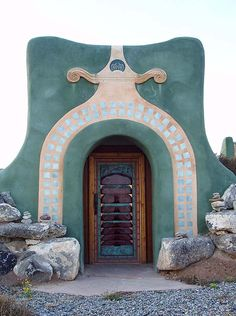 doorway to earthship