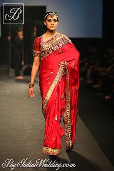 Ritu Kumar bridal saree . Visit the nearest Ritu Kumar Store in Hyderabad