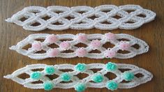 This is a hooked design. No loom needed. *Zuzu* Trellis Bracelet (Original Design)