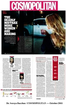 Put Dr. Soroya Bacchus, triple board certified addiction psychiatrist, in COSMOPOLITAN magazine to discuss alcohol abuse issues among young women Signs Of Alcoholism, Drunk Driving, Cosmopolitan Magazine, Bacchus, Young Women, Addiction, Health, Board, How To Make