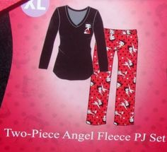 Betty Boop Wild About Kissing Womens Pajama Set SZ 3X Plus Size ...