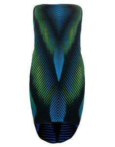 Motel Corrine Bandeau Dress in Techno Print - Official Motel Rocks Website
