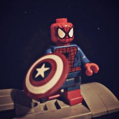 """""""Hey everyone."""" My favorite hero of all time has finally appeared!! #Lego #spiderman #marvel #MCU #marvelcinematicuniverse #civilwar #teamcap #teamironman #captainamericacivilwar #mcuspiderman #finally by master_cortez"""