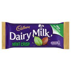 Cadbury Dairy Milk Mint Crisp Chocolate Bar from Ireland Cadbury Dairy Milk Chocolate, Dairy Free Chocolate, Best Chocolate, Irish Chocolate, Chocolate Coffee, Dairy Free Quiche Recipes, Dairy Free Appetizers, Peanut Butter Oatmeal Bars, Dairy Free Brownies