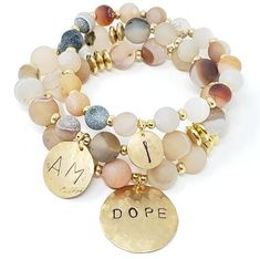 """""""Ich bin Dope"""" Affirmation Bracelets - Animation Ideas - Make Up For Beginners Step By Step - Bangle Bracelets DIY - Hairstyles Wedding Guest - DIY Kitchen Projects Diy Beaded Bracelets, Handmade Bracelets, Silver Bracelets, Bangle Bracelets, Embroidery Bracelets, Statement Bracelets, Colorful Bracelets, Diy Jewelry, Beaded Jewelry"""