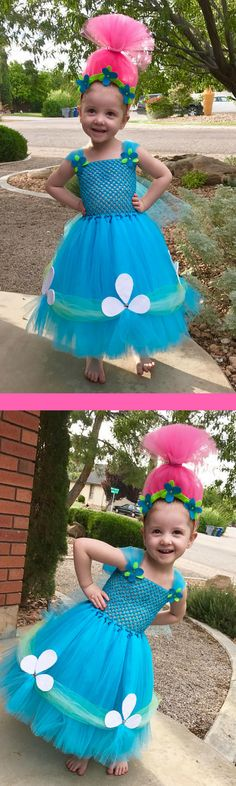 Super Adorable Princess Poppy Halloween Costume! #princesspoppy #trolls #halloween #costume #trickortreat