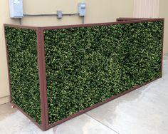 Artificial leaf panels are a great tool to cover those things you don't like. It looks really nice and you don't have to do any maintenance to it