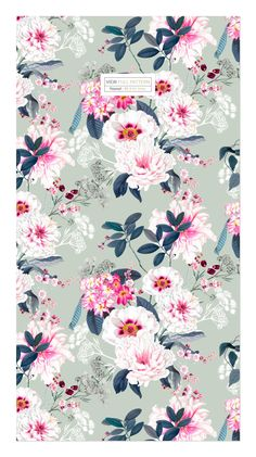 Vibrant yet subtle and elegant elements with large florals developed into a seamless patterns. Frame Wreath, Pattern Illustration, Flower Designs, Florals, Pattern Design, Decoupage, Print Patterns, Frames, Vibrant