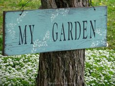 The weather is beautiful today in Michigan so I ventured outside to do some weeding in my little garden. Love Garden, Dream Garden, Garden Art, Garden Club, Cottage Garden Plants, Garden Living, Shabby, Little Gardens, Garden Signs