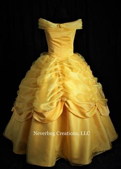 Beauty and the Beast Belle Classic Yellow Gown image 1 Big Wedding Dresses, Boho Wedding Dress, Designer Wedding Dresses, Red Wedding, Mermaid Wedding, Ball Dresses, Ball Gowns, Robes Disney, Yellow Gown