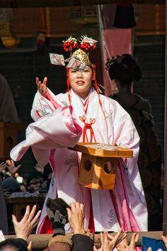 Asian miko parade