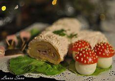 Trunchi de copac sarat Sushi, Panna Cotta, Rolls, Ethnic Recipes, Desserts, Mai, Kitchens, Postres, Buns