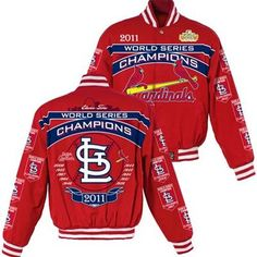 St. Louis Cardinals World Series 2011 Champions Commemorative Cotton Twill Jacket