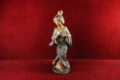 Bronze+Japanese+Geisha+Womsn+Playing+Flute