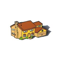 Image of Simpsons House Pin