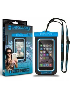 Водоустойчив калъф за смартфон SeaWag Waterproof Case for Smartphones Black & Blue