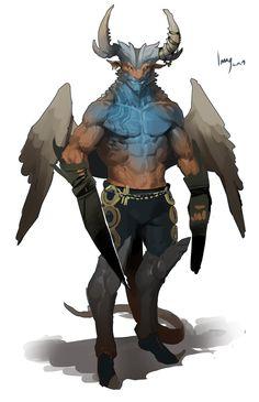 dragonman dragonborn warrior