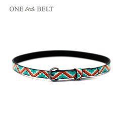 Toddler Girls Belt- Tribal Skinny Belt. $18.00, via Etsy.