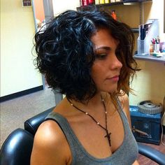 Curly inverted bob                                                       …