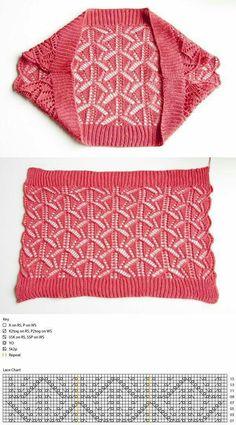Rectangle lace shawl pattern