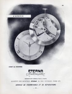 Eterna (Watches) 1950 Automatic