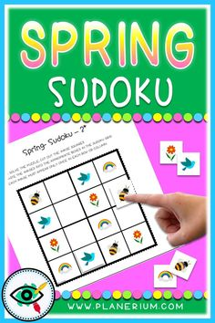 Spring season Images Sudoku games for kids. For beginning puzzle solvers. Puzzle Games For Kids, Fun Activities For Kids, Second Grade Games, Puzzles, Puzzle Solver, Seasons Activities, Educational Games, Elementary Schools, Teaching Resources