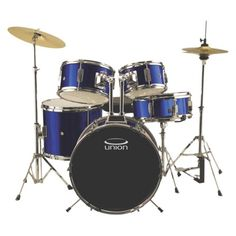 Union 5-Piece Junior Drum Set - Blue (DRSUJ5DB) For Sammy