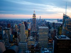 Top of the Rock Observation Deck View of Manhattan NYC