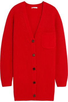 Red cashmere Button fastenings through front 100% cashmere Dry clean