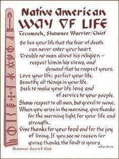Native American Way of Life