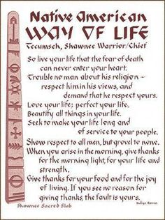 Native American Way of Life