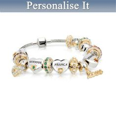 Forever In A Mothers Heart Personalised Bracelet
