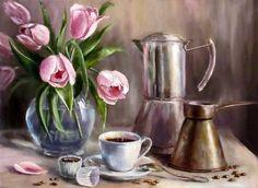 """Olga Pavlovna. . """"Coffee and cupcake"""""""