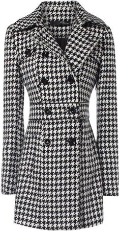 10 Most Fashionable Winter Coats … | Houndstooth, Flare and Jackets