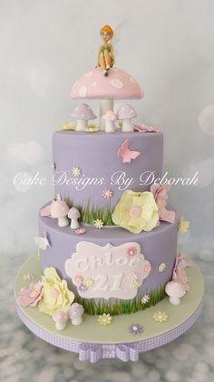 Fairy Garden Cake, Garden Cakes, Fairy Cakes, Tinkerbell Birthday Cakes, Fairy Birthday Cake, Disney Cakes, Cute Cakes, Creative Cakes, Cake Creations