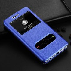 Luxury PU Flip Retro Leather Cases For Huawei P9 lite Case With Stand Original Window View Lite Cover Phone P8