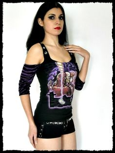 Tool Strap Top Tank shirt S by kittyvampdesigns on Etsy