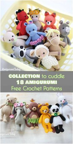Crochet Amigurumi Patterns Collection to Cuddle Amigurumi Free Crochet Patterns] Crochet Animal Patterns, Crochet Patterns Amigurumi, Stuffed Animal Patterns, Amigurumi Doll, Knitting Patterns, Stuffed Animals, Kids Patterns, Crochet Sheep Free Pattern, Diy Crochet Animals