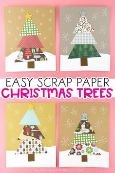 Have leftover scrapbook paper from making arts & crafts? Make this cute Paper Scrap Christmas Tree Craft. Fun Christmas craft for kids with free template! Christmas Arts And Crafts, Christmas Activities For Kids, Christmas Crafts For Kids, Christmas Fun, Christmas Decorations, Christmas Scrapbook Paper, Scrapbook Paper Crafts, Scrapbooking, Paper Ornaments