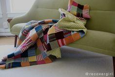 felted wool scrap blanket