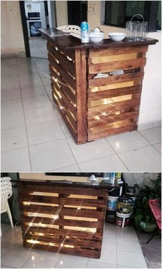 Best Inspirational Ideas for Old Pallets Reusing: Old shipping pallets are remarkably used for the home furniture designing over the last so many years. It is a known fact that wood pallets. Pallet Furniture Plans, Recycled Furniture, Home Decor Furniture, Furniture Ideas, Pallet Crafts, Pallet Projects, Pallet Ideas, Diy Projects, Old Pallets