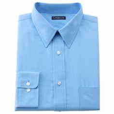 Croft & Barrow Classic-Fit Striped Broadcloth Dress Shirt - Men