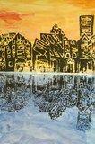 Cityscape #reflection by Courtney, grade 4, Howard C Johnson Elementary School #art4literacy #art #city #education