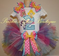 Bubble Guppies Birthday tutu set. Add your childs name and age on Etsy, $65.00